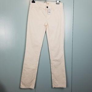 J.Crew cream corduroy skinny pants size 24S -R1